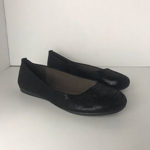 Easy Spirit e360 Black Ballet Flats